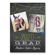 Grad Lights - Graduation Announcement